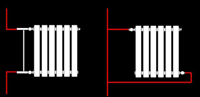 Диагональное опдключение батарей