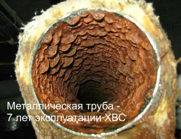 Железная труба отопления