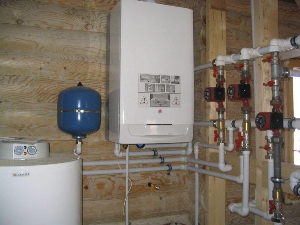 отопление домов котлами схема работы