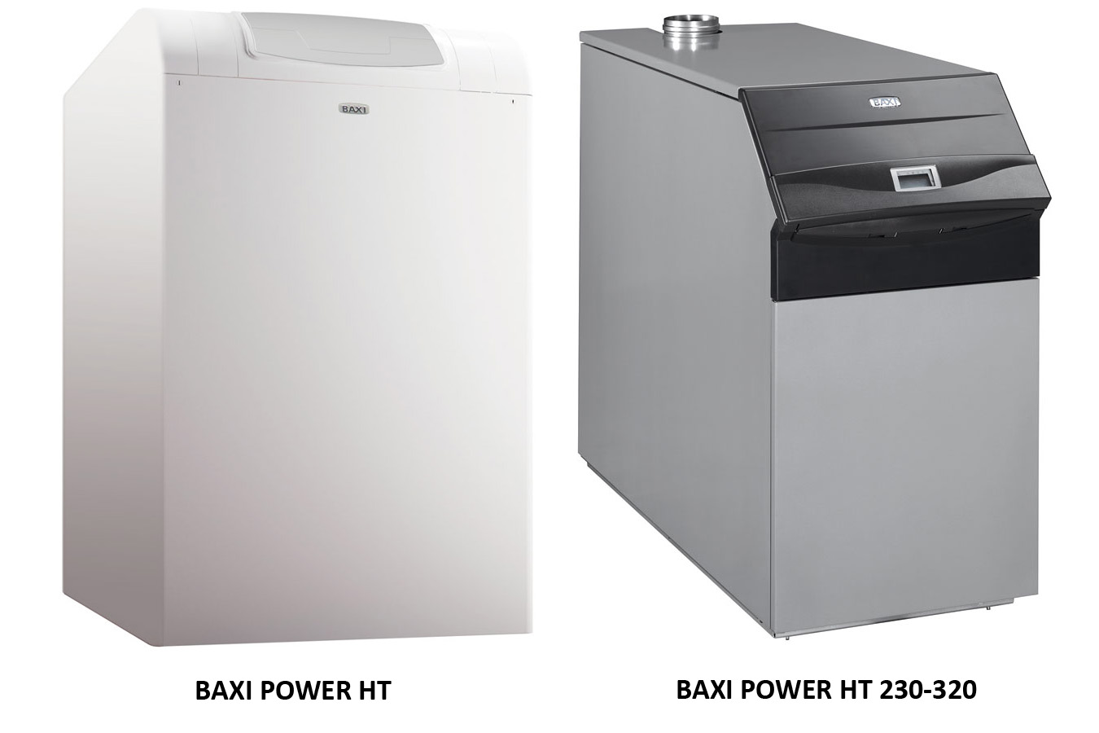 Вид спереди на котлы Бакси серии POWER HT