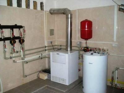 Закрытая система отопления с установленным расширителем