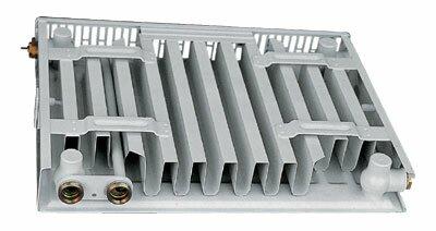 Вид на панельный радиатор сзади