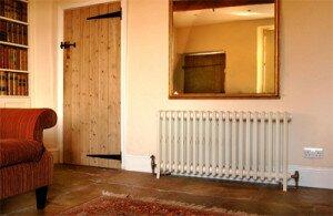Комната с установленными радиаторами