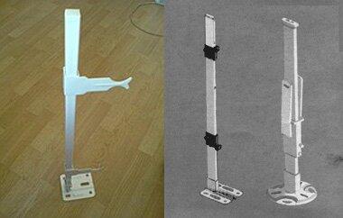 Вариации напольных кронштейнов для монтажа радиаторов