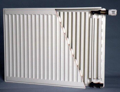 Металлический радиатор в разрезе