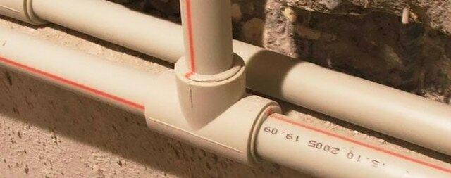 Врезка тройника в полипропиленовый водопровод