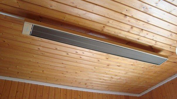 Инфракрасные обогреватели размещают на стене или потолке по двум причинам - безопасность использования и качество обогрева