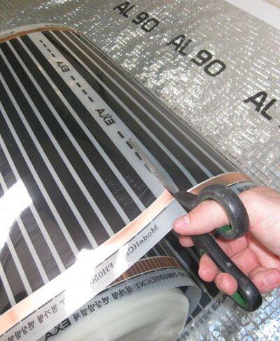 Во избежание порчи нагревательных элементов отрез допускается делать только по специально предназначенной для отреза линии