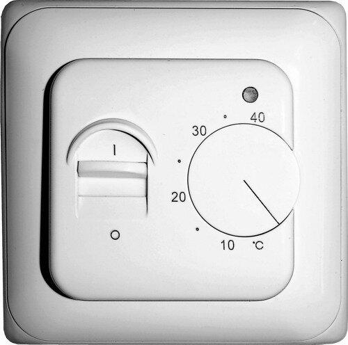 Механический терморегулятор имеет простейшее устройство - тумблер включения и ползунок регулировки температуры