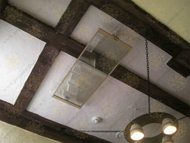 Интересный вариант исполнения потолочного инфракрасного обогревателя - прозрачный Пион Termo Glass