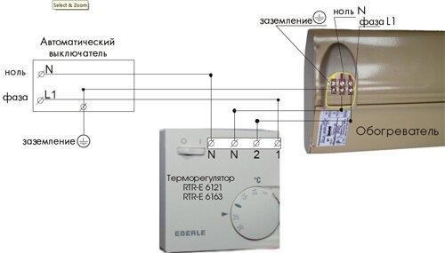 Организация заземления ИК-обогревателя