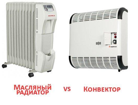 Масляный радиатор против конвектора