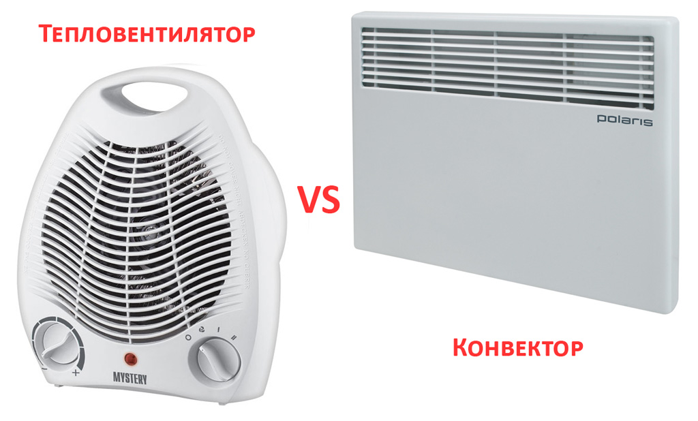 Конвектор или тепловентилятор - что лучше