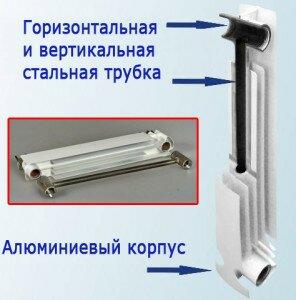 Расчет секций биметаллических радиаторов