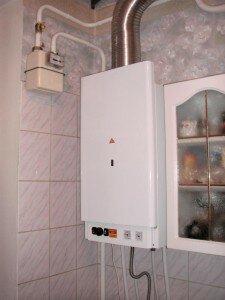 Пример установки газового котла в квартире