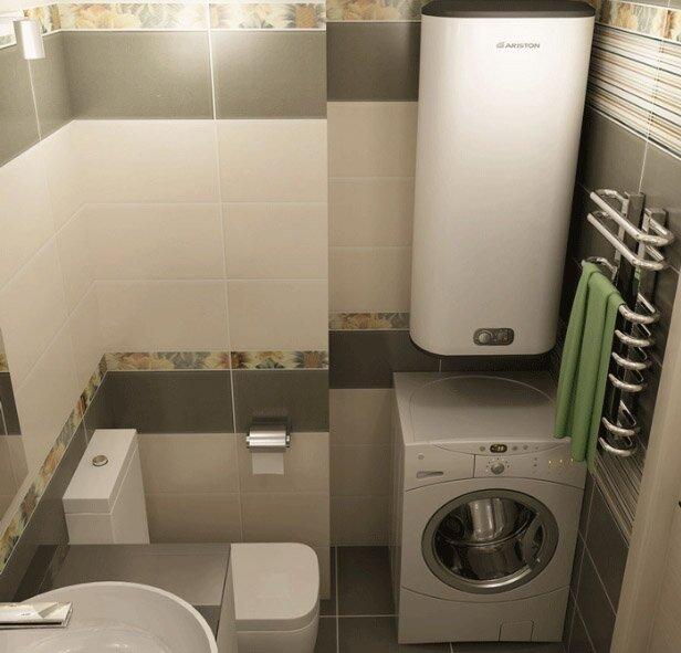 Ванная - наиболее распространенное место установки водонагревателя