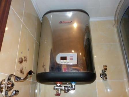 Пример установки накопительного электрического водонагревателя