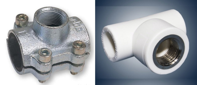 Тройники для металлического и пластикового трубопровода