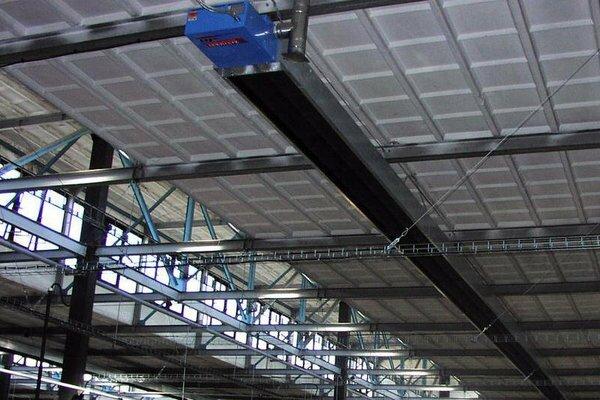 Промышленные инфракрасные обогреватели походят для отопления цехов и фабричных помещений